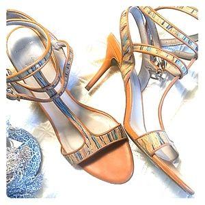 Donald J Pliner 3 buckle heels